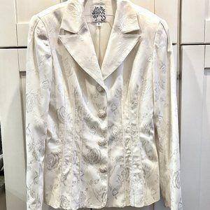 VINTAGE Beverly Mehe | Ivory Brocade Jacket